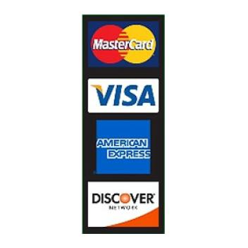 Credit Card logos for store windows