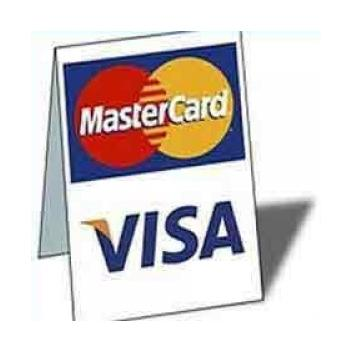 Visa MasterCard Tent Sign Table Top sign