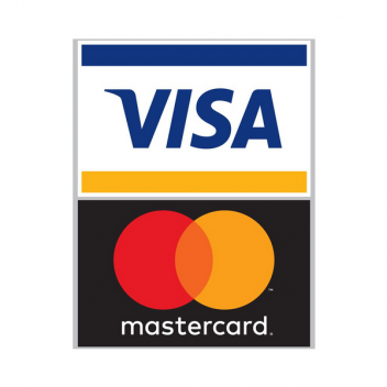 Decal sign for MasterCard Visa logo for window or door
