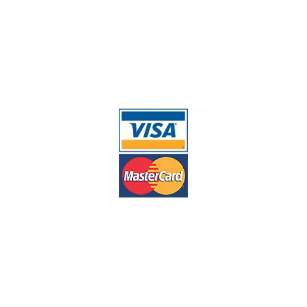 Visa Mastercard Decal Sticker Sign