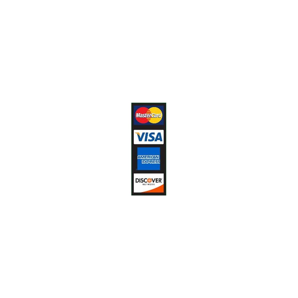 MasterCard Visa Discover Amex Door Decal