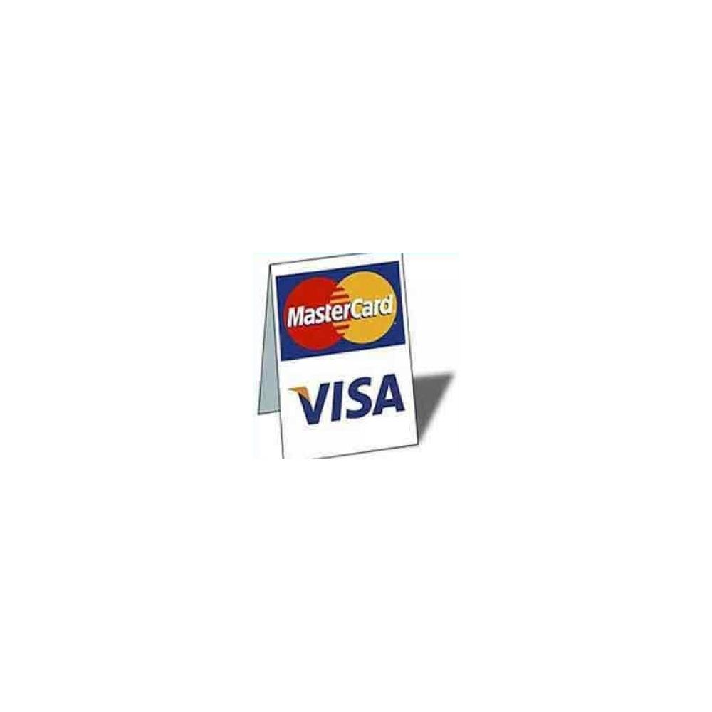 Visa MasterCard Tent Sign Table Top sign  sc 1 st  Electronic Merchant Systems & Visa and MasterCard Tent Sign