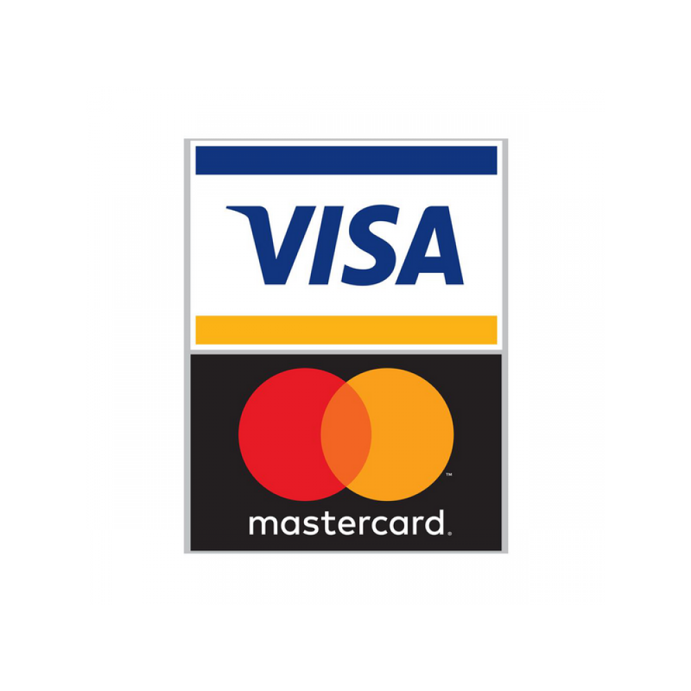 Visa and MasterCard Tent Sign table top